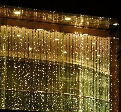 300 LED 3M * 3M Tenda String Lights Garden Lamps Natale Natale Ghiaccioli Luci Xmas Wedding Party Decorazioni AC110V-250V