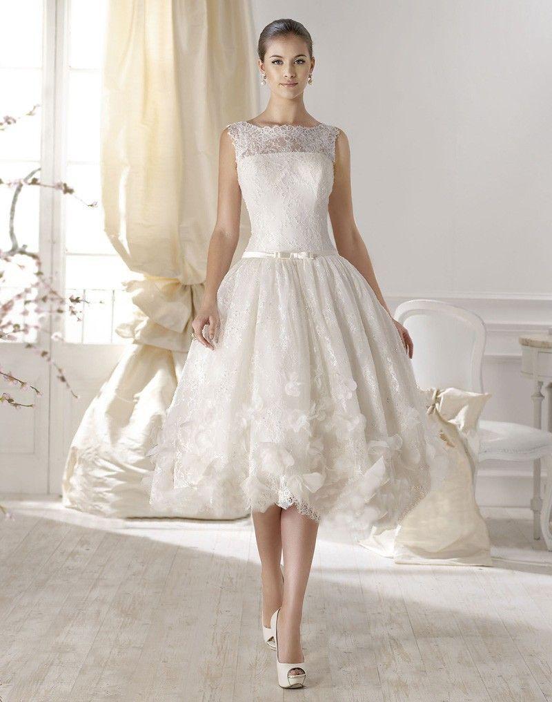 Discount Special Design 2016 Short Lace Wedding Dresses Handmade ...