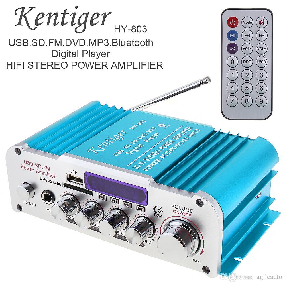 12V 2CH HIFI Bluetooth Car Audio Power Amplifier FM Player AUX USB SD Input 85dB