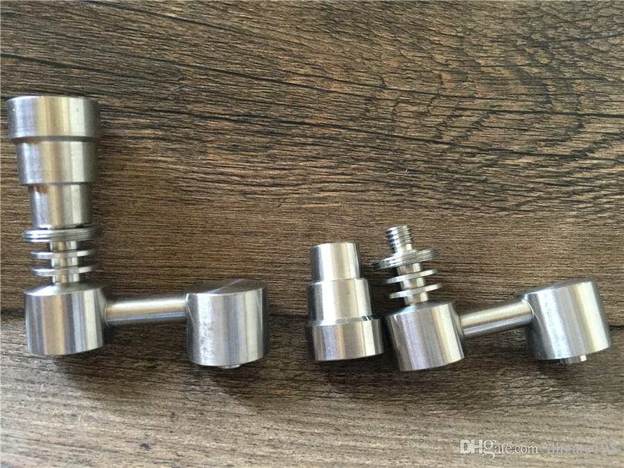 Universal Domeless 4 In 1 GR2 Titanium Nail 14mm 18MM für Wasserpfeife Glas Wasser Rauchen mit männlichen und weiblichen Gelenk
