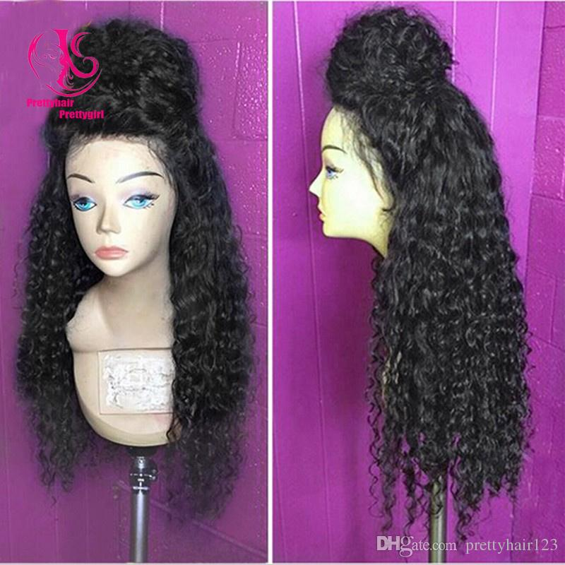 HOT sales! Beauty Free shipping heat resistant kinky curly synthetic lace front wig nature black wig glueless curly wig for black women
