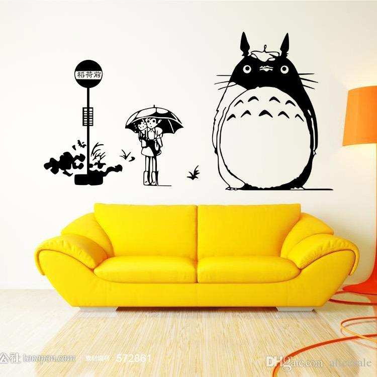 ... New Arrival Japanese Cartoon Totoro Wall Sticker My Neighbor Totoro  Vinyl Wall Decal Kidu0027s Room Home ...