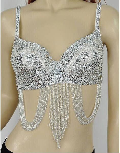 sequin belly dance bra