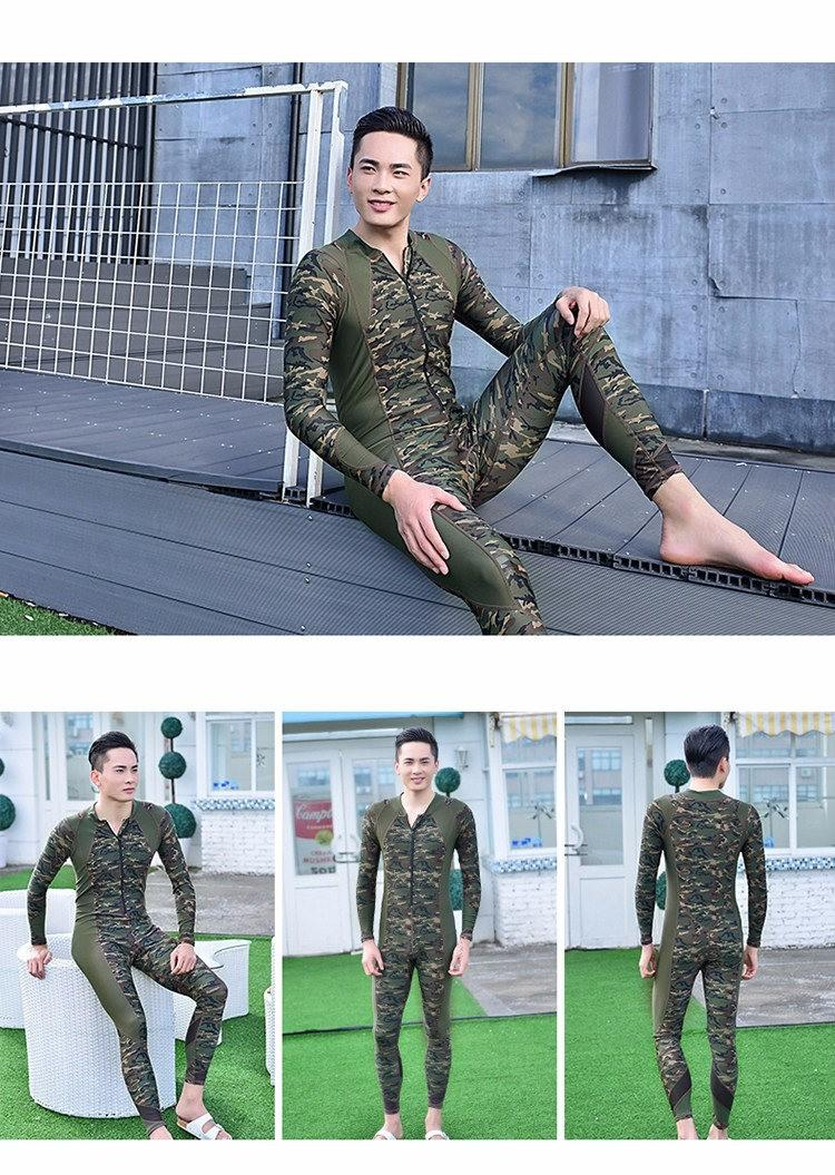 2019 Hot Sale 2016 Fashion Lovers Camouflage Wetsuit Surfing Diving Couples  Swimwear Zipper One Piece Bathing Suit For Women Jumpsuit Swimsuit From ... a7c9f1579