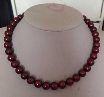 Ожерелье из натурального южно-морского шоколада с жемчужиной 10-11 мм