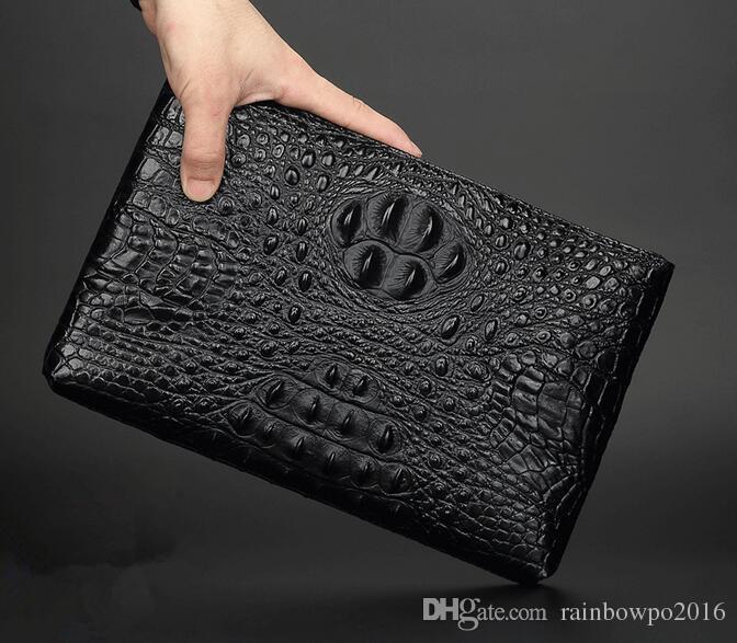 Заводские продажи новой кожаной сумки крокодила мужские и мужские сумки из высококачественной кожи мужские бизнес-линии страусиная клатч