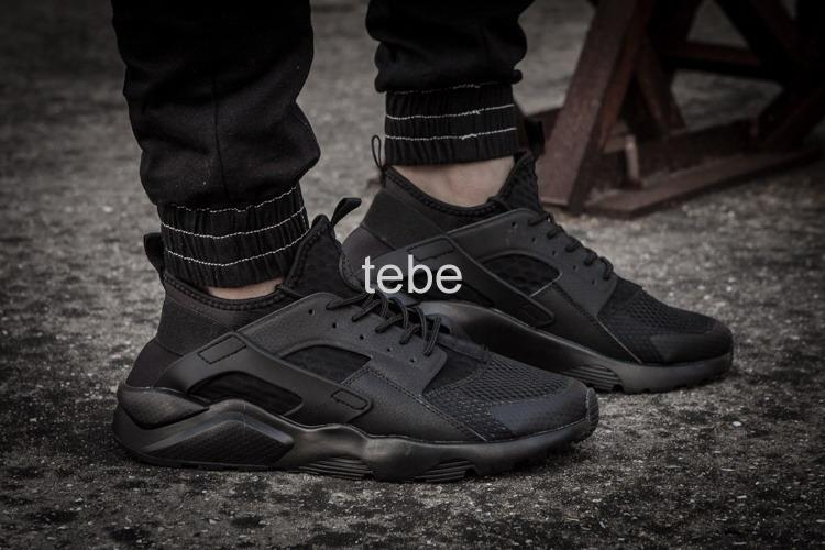 ... 2016 New Design Air Huarache 2 All Black Mesh Sneakers Ultra Breathe  Men And Women Huaraches Cheap Nike Air Huarache Run PRM QS Total ...