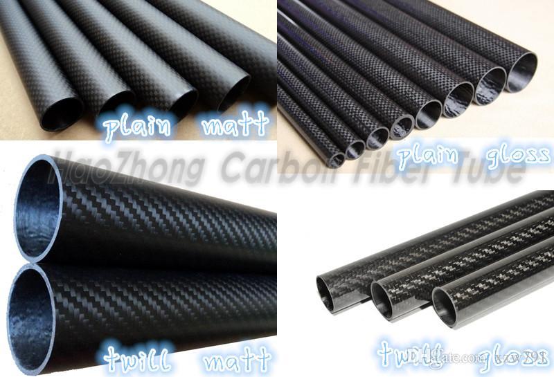 3mm ID Glossy 5mm OD 500mm Length 3K Roll Carbon Fiber Tube 5 3 500