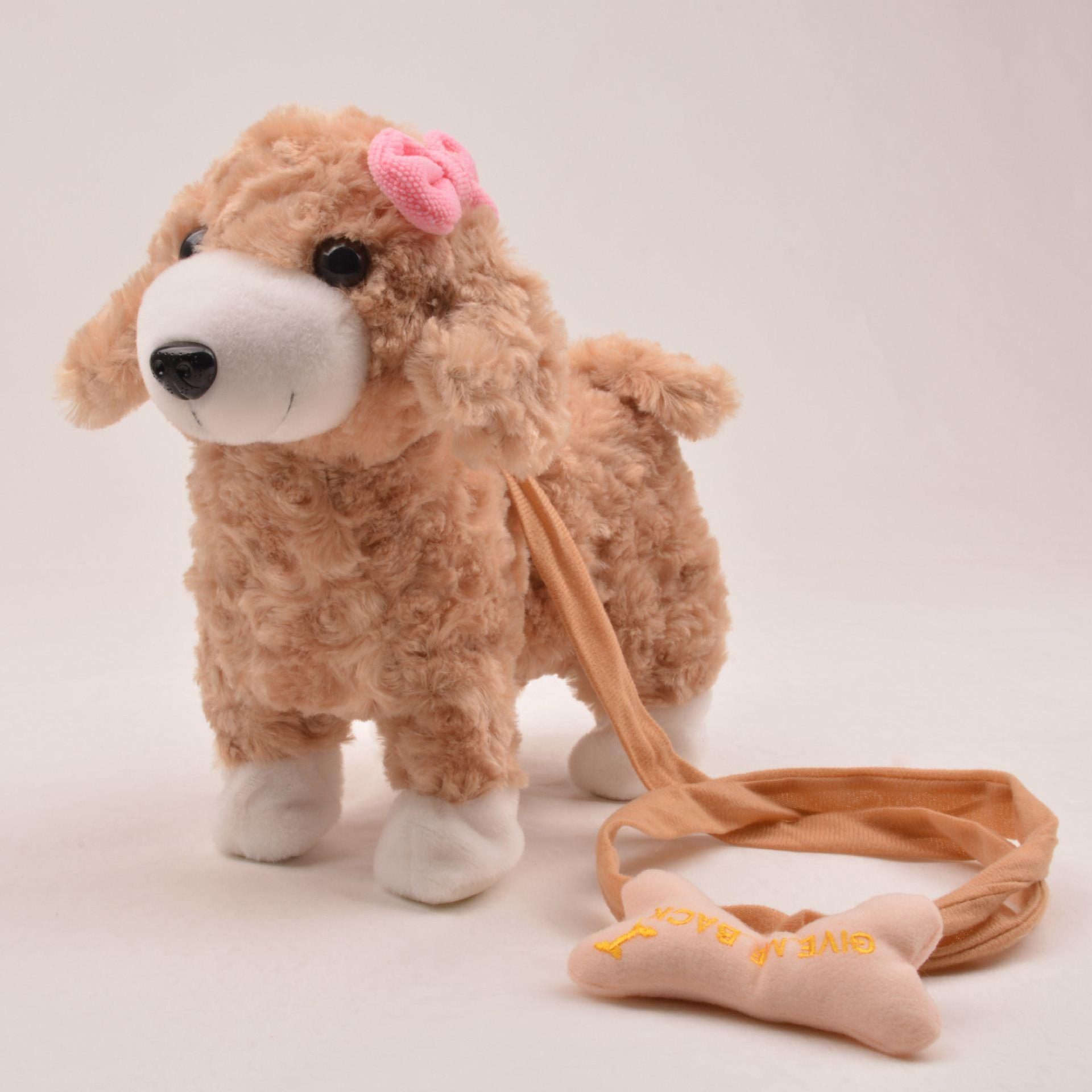 electric plush dog pet very good quality walk and making music
