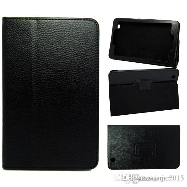 Wholesale Folding Folio PU Leather case for Lenovo S5000 7 inch tablet holster stand cover Magnetic bag