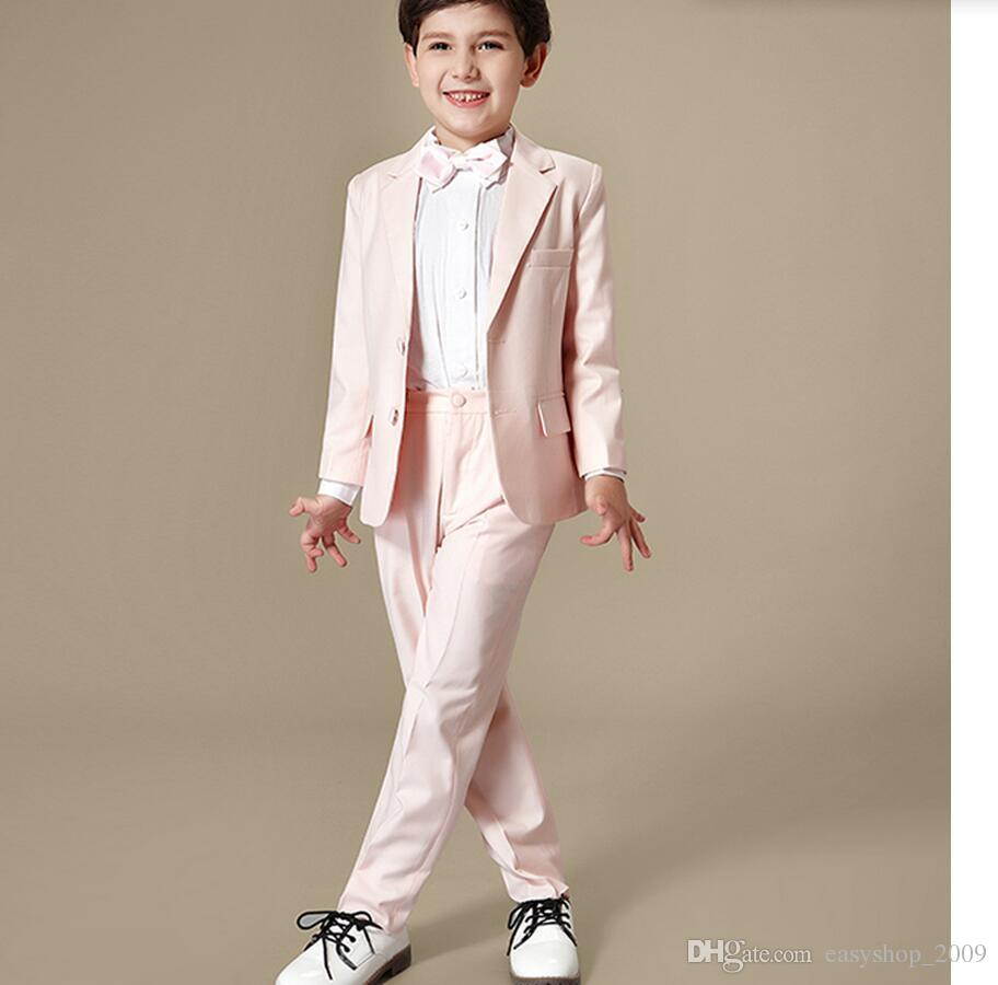 2016 Hot Sale Little Boy Suits For Wedding Suits Black Handsome ...