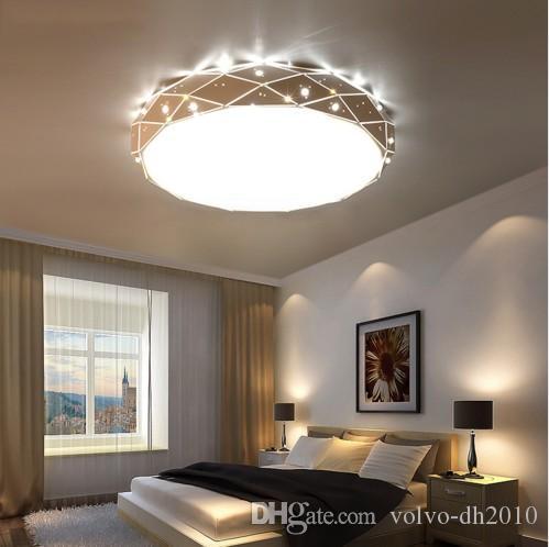White Round LED Ceiling chandelier For Living Room Bedroom Home AC85-265V Modern Led Ceiling Chandelier Lamp Fixture LLFA