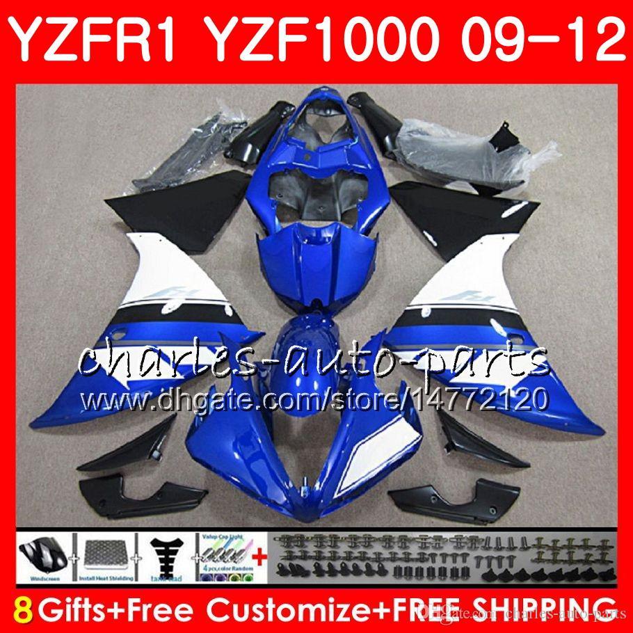 Body For YAMAHA YZF 1000 Blue black R 1 YZFR1 09 10 11 12 Bodywork 85NO33 YZF1000 YZF R1 2009 2010 2011 2012 YZF-1000 YZF-R1 09 12 Fairing