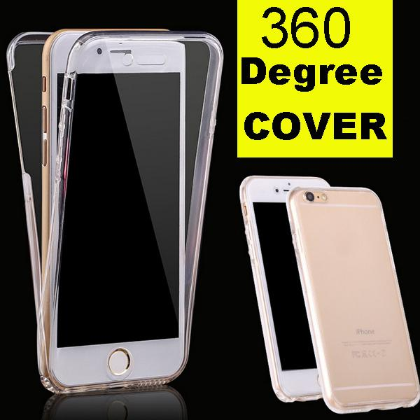 For iPhone 7 7plus Galaxy S7 edge S6 Ultra Thin 360 Degree Full Front Back Soft Clear Transparent TPU Case Cover DHL Free SCA111