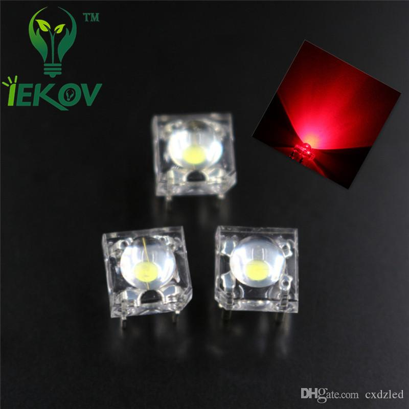 5MM Piranha Super Flux White Leds 4pin Wide Angle Super Bright Light