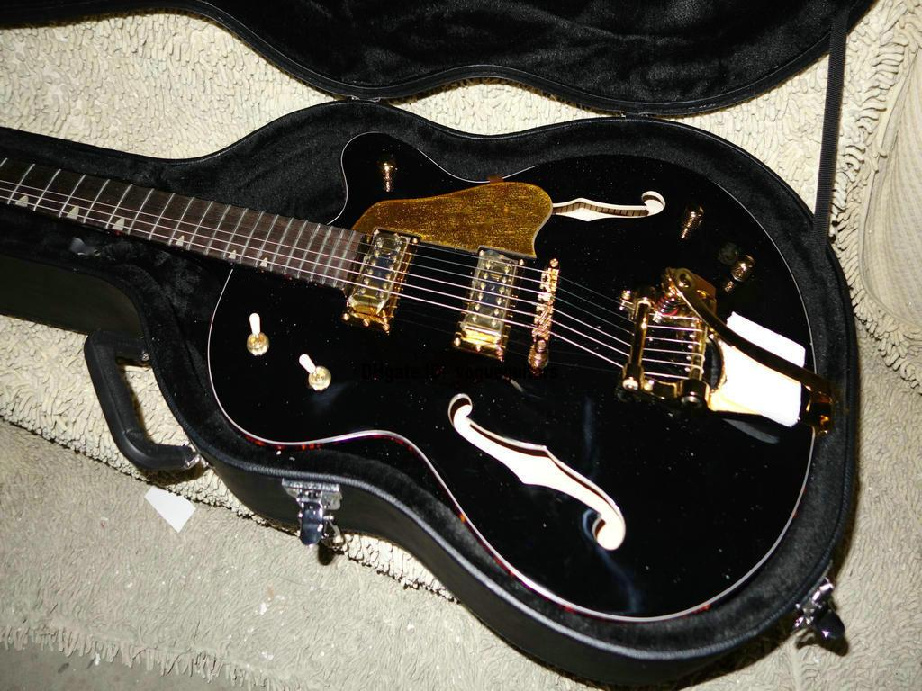 Custom Hollow Body Jazz guitars Black 6120 Electric Guitar Jazz Guitar High Cheap Electric Guitar