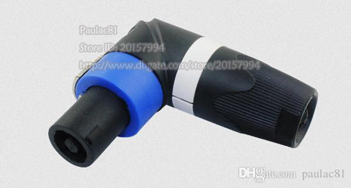 Haute Qualité 90 Degrés Angle Professionnel Professionnel Audio 4Pin Connecteur Mâle Audio Amplificateur Canon Ohm Tête / Livraison Gratuite / 1 PCS