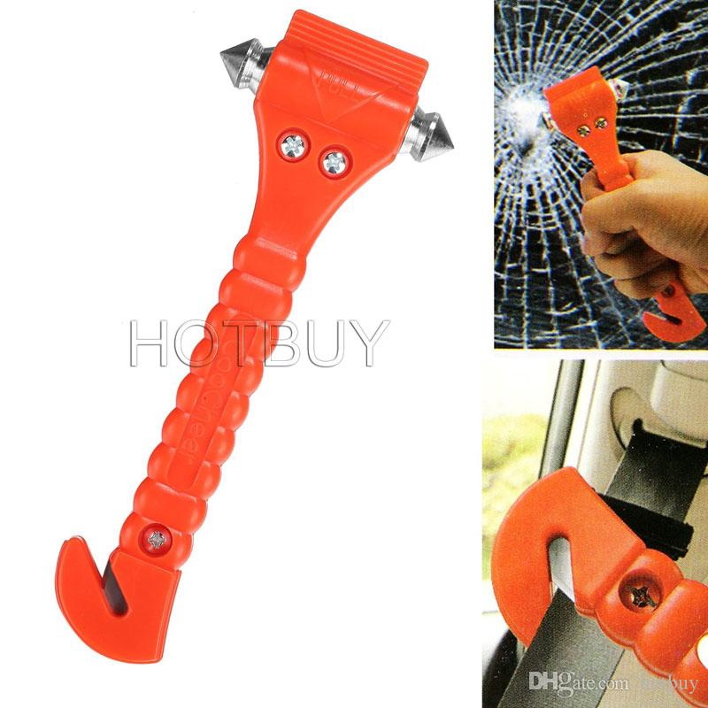 Car Auto Safety Seatbelt Cutter Survival Kit Window Punch Breaker Hammer Tool for Rescue Disaster & Emergency Escape #4067