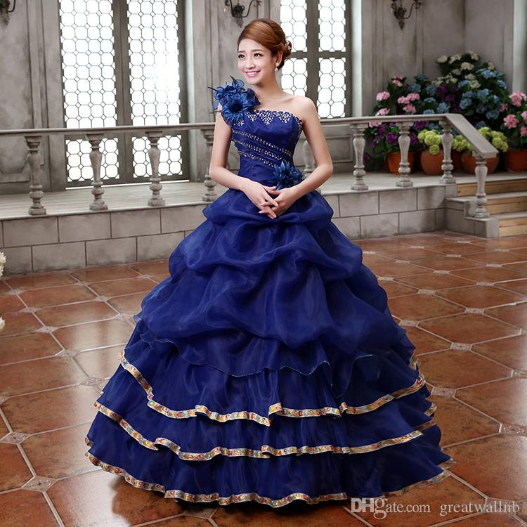 Freeship Königsblau / Lavendel / Gelb / Pink Blumen Thema Party Ballkleid mittelalterlichen Kleid Renaissance Kleid Königin Kleid viktorianischen Belle Ball