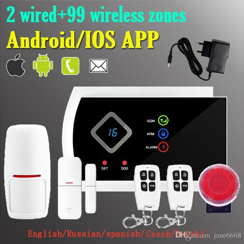 Safearmed®NEW Home Security LED-Anzeige G10A Wireless GSM SMS-Alarmsystem Unterstützte APP Control Aufruf Modify Zone