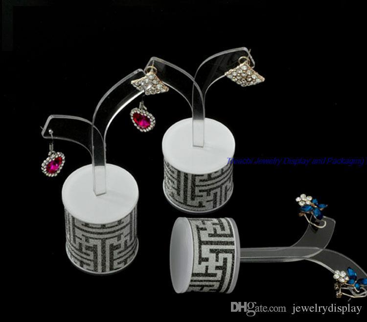 Nouvelle arrivée 3pcs / Set élégant organisateur d'affichage de bijoux acrylique Dangle arbre titulaire de la boucle d'oreille Stand