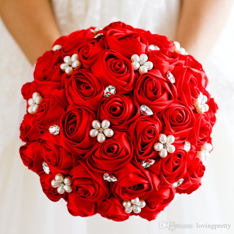 Bouquet Da Sposa Rosso.Acquista Jane Vini 2018 Bouquet Da Sposa In Cristallo Rosso Con