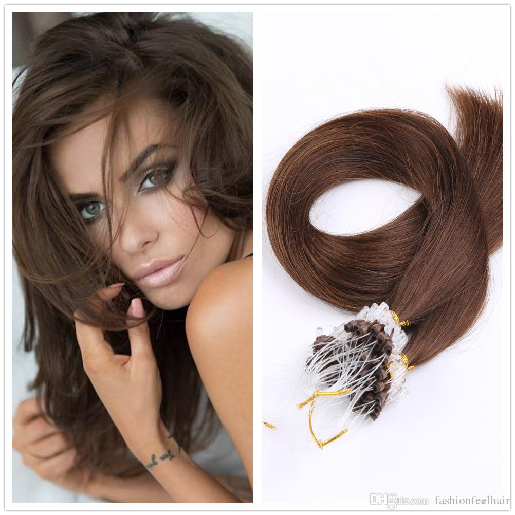 100s Pack Micro Loop Hair Extension 1820222426 28natural Micro