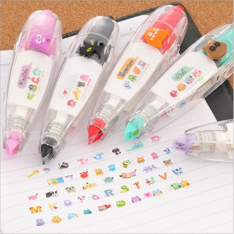 Free shipping Creative Stationery Push Correction Tape Lace for Key Tags Sign School Supplies