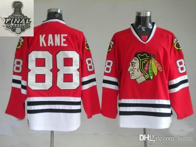 2016 Nieuwe, Bigsmall Size 2015 Stanley Cup Finales Patch Chicago Blackhawks 88 Patrick Kane Red Ice Hockey Jerseys Grotere Size S-4XL