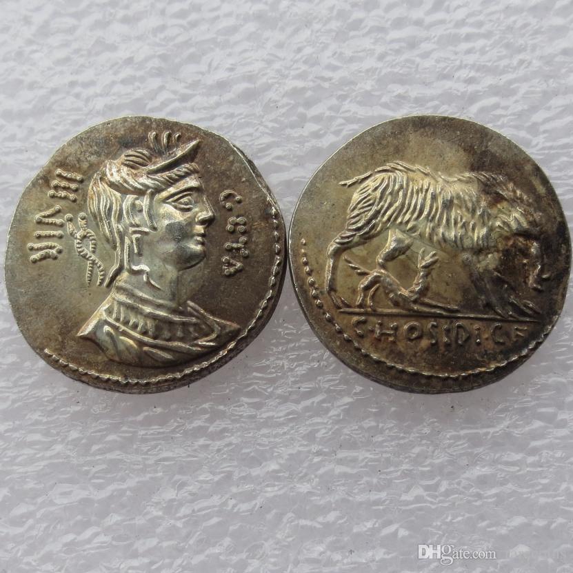 RM (27) Rome antique Denarius -64 copie pièce Nice Quality Coins Vente au détail / toute vente Livraison gratuite