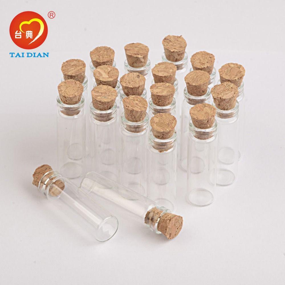 2ml Mini Glass Bottles Pendants With Cork or Rubber Stopper Small Bottle Decoration Crafts Vials Jars Gift DIY Bottle3