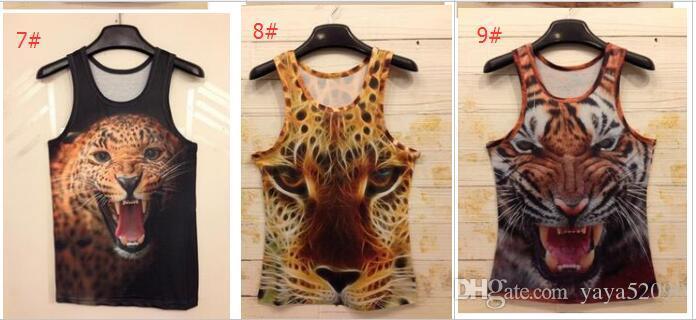 New Women/Men T-Shirt Leopard Animal 3 D Sleeveless T Shirts Tiger/Cat/Wolf/Snake 3 d Vest Tanks Tops Tees Free Shipping