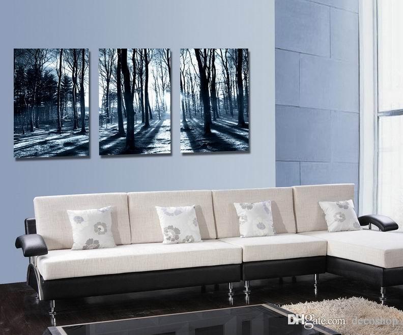 자두 꽃 Wintersweet 꽃 그림 캔버스에 Giclee 인쇄 홈 장식 벽 예술 Set30417