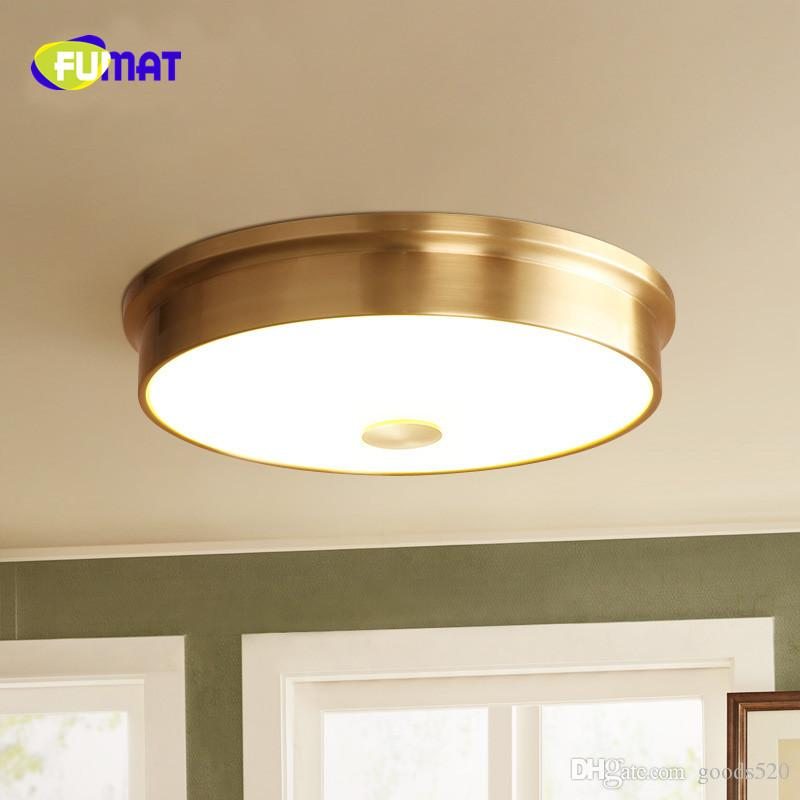 FUMAT Brass Ceiling Light Modern LED Ceiling Lamp For Bedroom Living Room Lustre Flush Mount Ceiling Luminaire Plafonnier