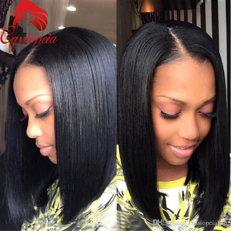 Bob Short Human Hair U Part Wig Peruvian Virgin Hair U Shape Bob Wigs For Black Women Bob Wig None Lace For Sale