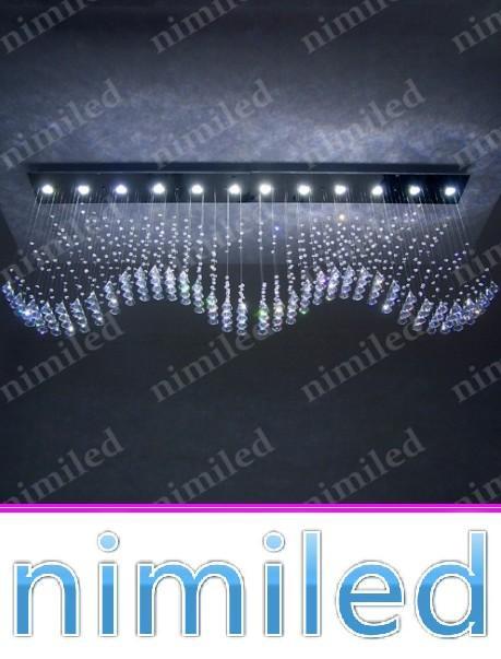 nimi793 L100 * W20 * H65cm 윙 플라이 LED 직사각형 거실 조명 레스토랑 샹들리에 교수형 와이어 램프 라이트 커튼 펜던트 조명