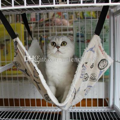 3 Colors Cute Animal Series Soft Plush Cat Hanging Bed Pet Cats Cage Hammock 100pcs/lot Free Shipping 35*35cm
