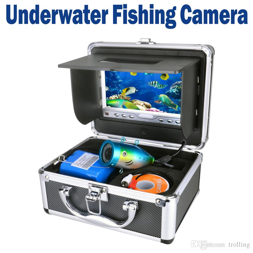 "Boat Delux Kit Underwater Fishing Camera Video Fish Finder DVR HD 600TV Lines 15M Version Usage Time 7"" TFT LCD Monitor colorful display"