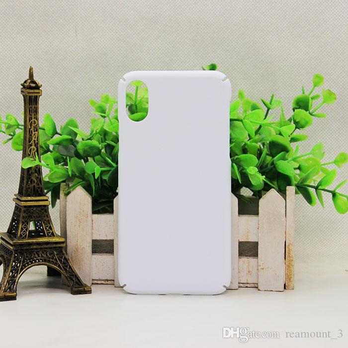 50 unids sublimación de bricolaje 3d case para iphone 8 en blanco impresa cubierta de transferencia de calor caso de la sublimación para iphone8 cubierta del teléfono