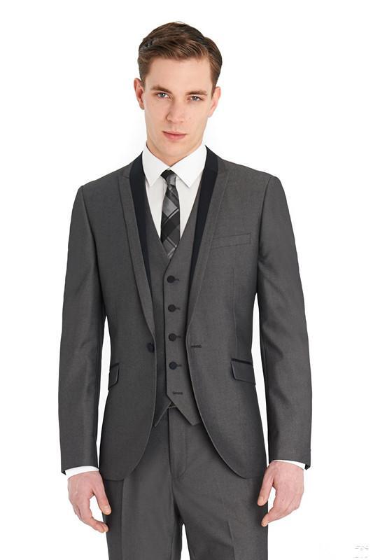 Custom made casamento ternos Notch lapela três peças sexy noivo smoking homens formal clássico noite casamento desgaste (casaco + calça + colete)