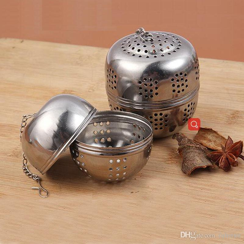 S / M / L / XL Infusor de Té de Acero Inoxidable Bola de Té Hoja de Especias Filtro Sabor Tesoro Filtro de Malla Herramientas de Cocina Accesorios de Cocina