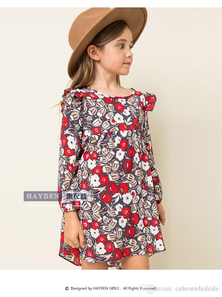 2018 New 2016 Teenager Vintage Floral Dresses Junior Fashion Cotton ...