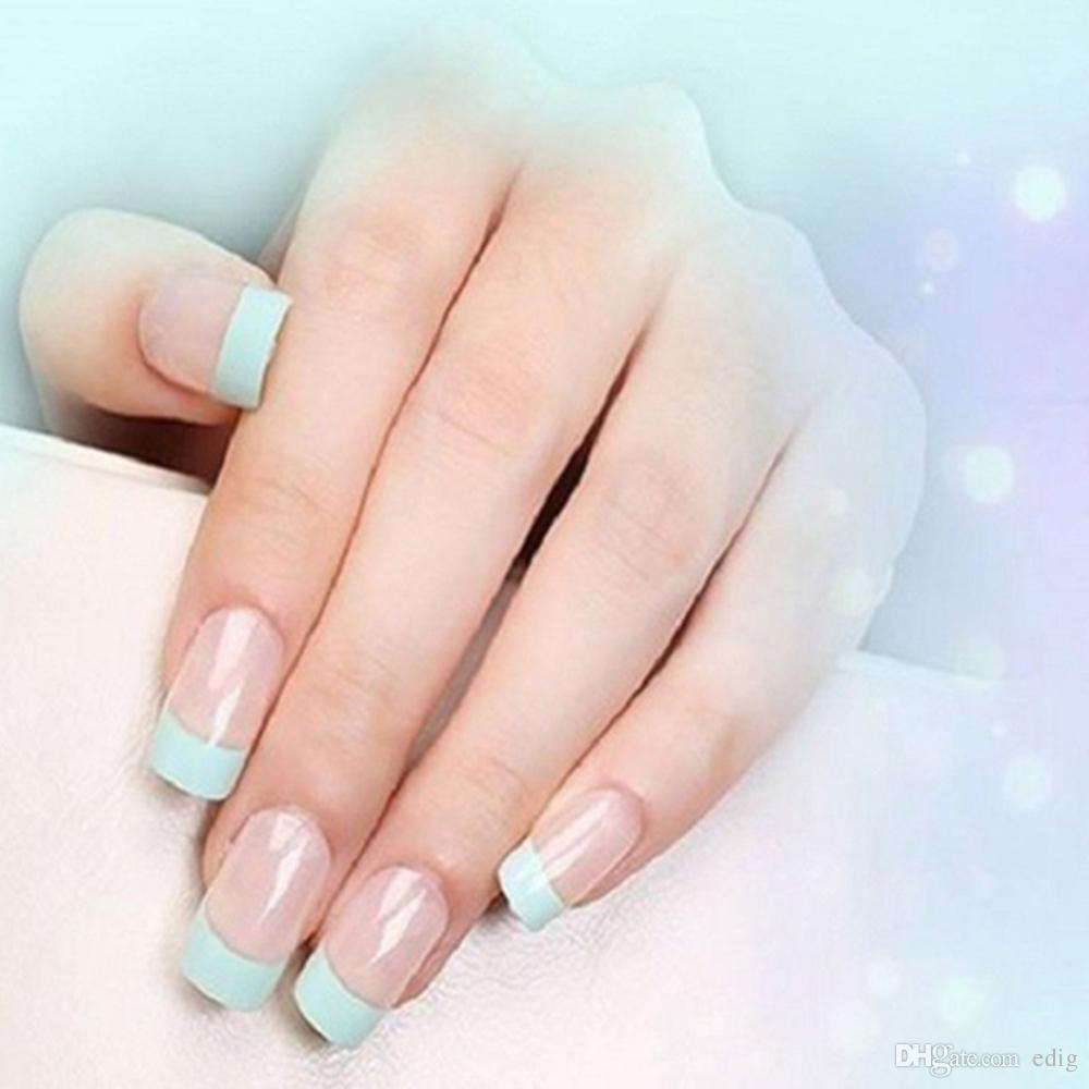Fashion French Style Nail Stickers White 18 Styles Decals Transfer ...