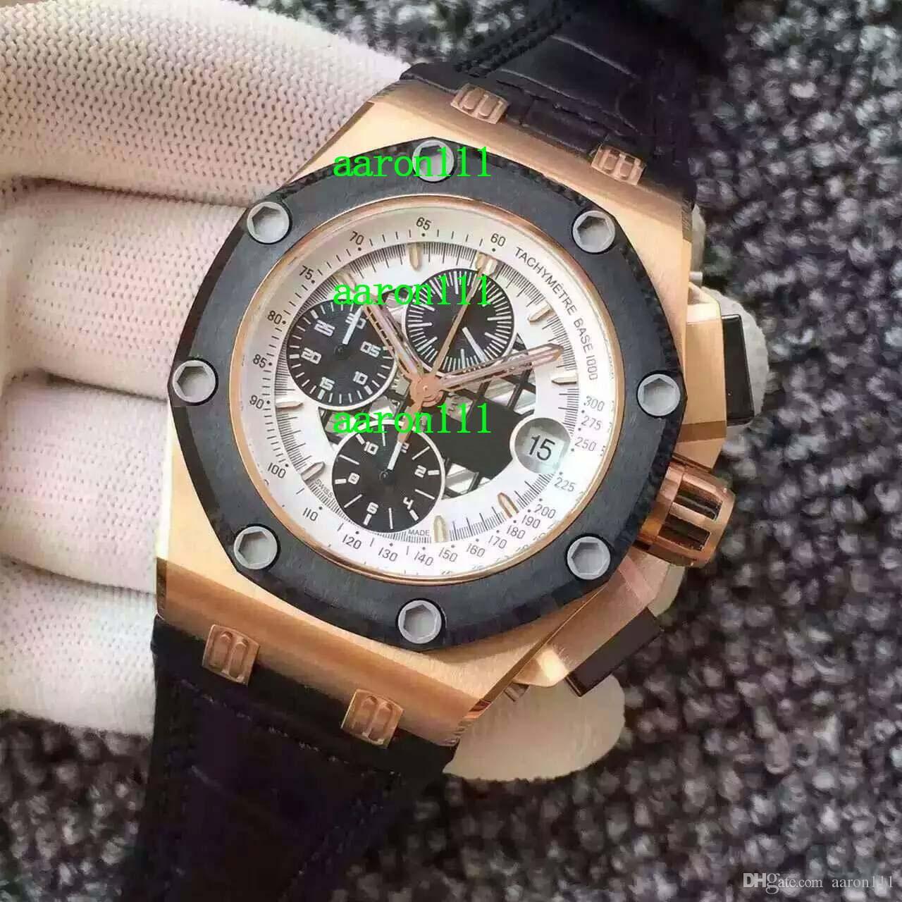 Marca de moda Rose Gold inoxidável 26708 26078RO.OO.D002CR.01 CAL.3126 Chronograph Data Homens Automatic Relógios de luxo Mens Watch Mechanical