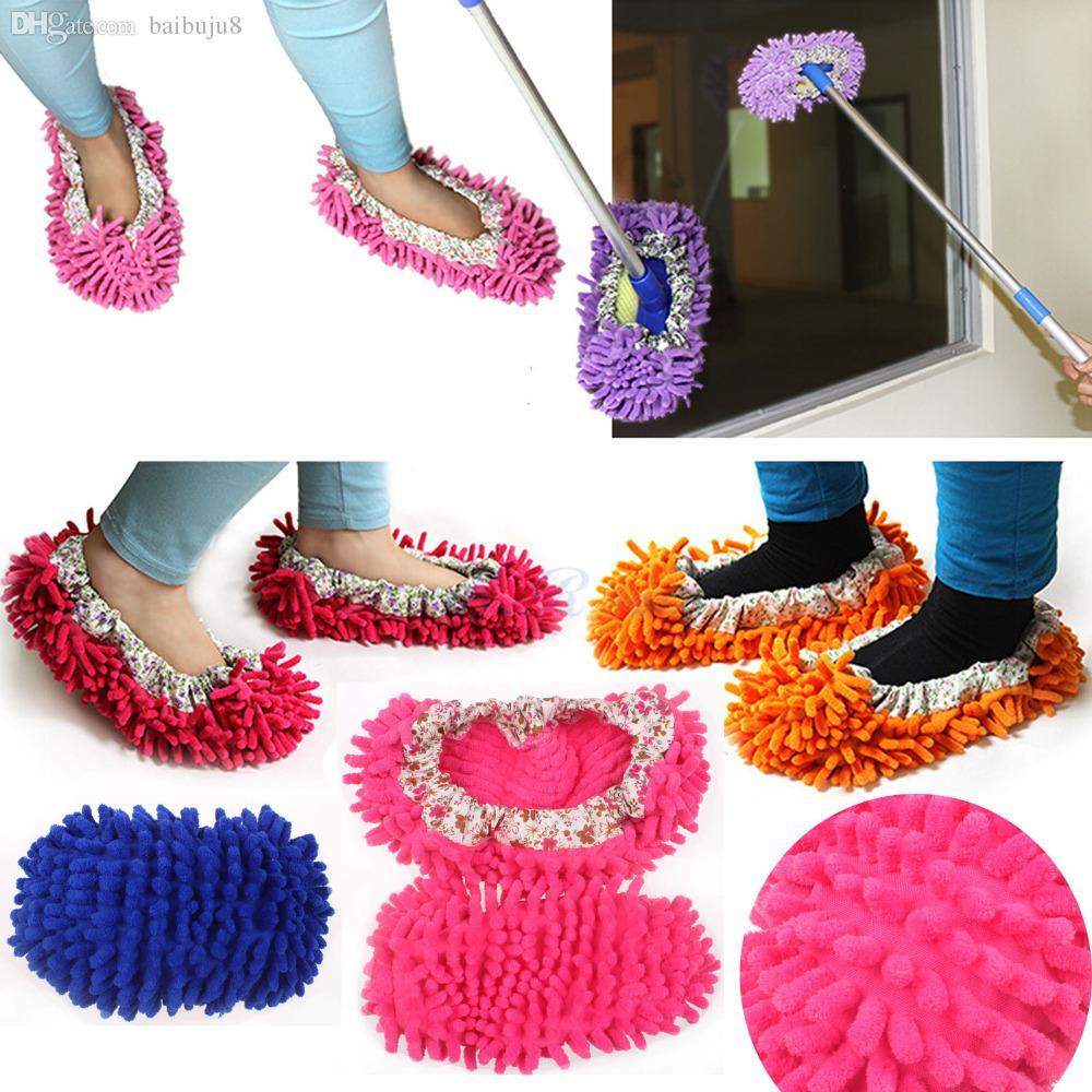 الجملة الممسحة الحذاء غطاء الغبار الطابق الأنظف تنظيف كسول النعال الساخن salling تنظيف المماسح