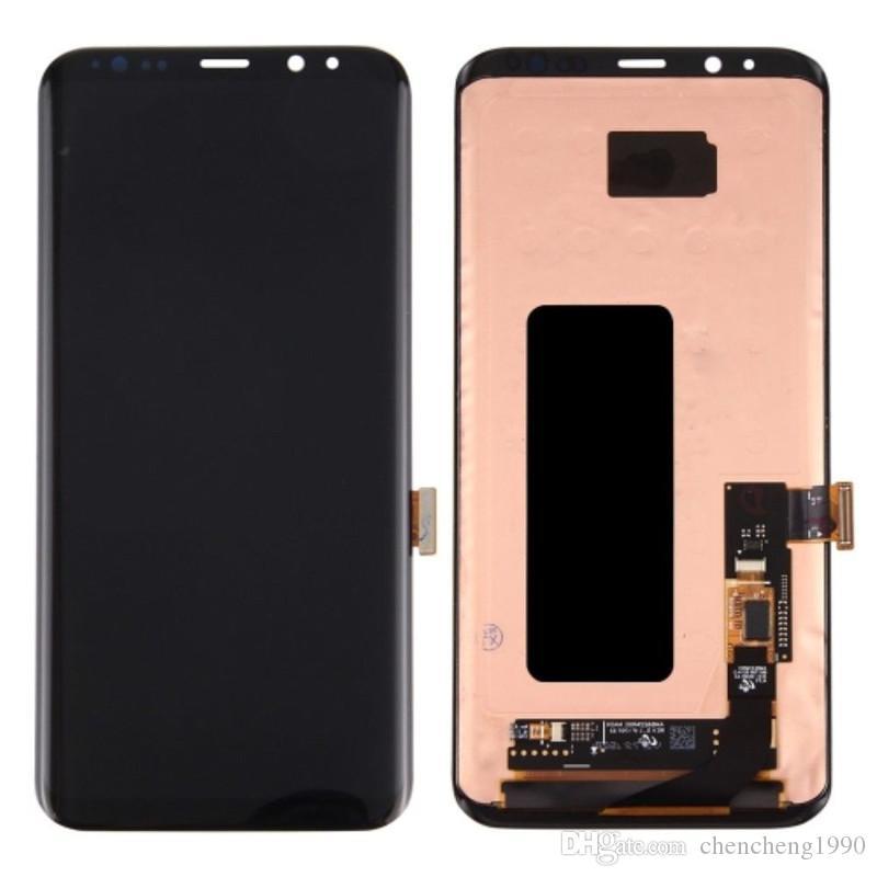 Novo Teste Super AMOLED LCD Touch Screen Digitador Substituição Para Samsung Galaxy S8 Borda Mais G955A G955A G955F G955T