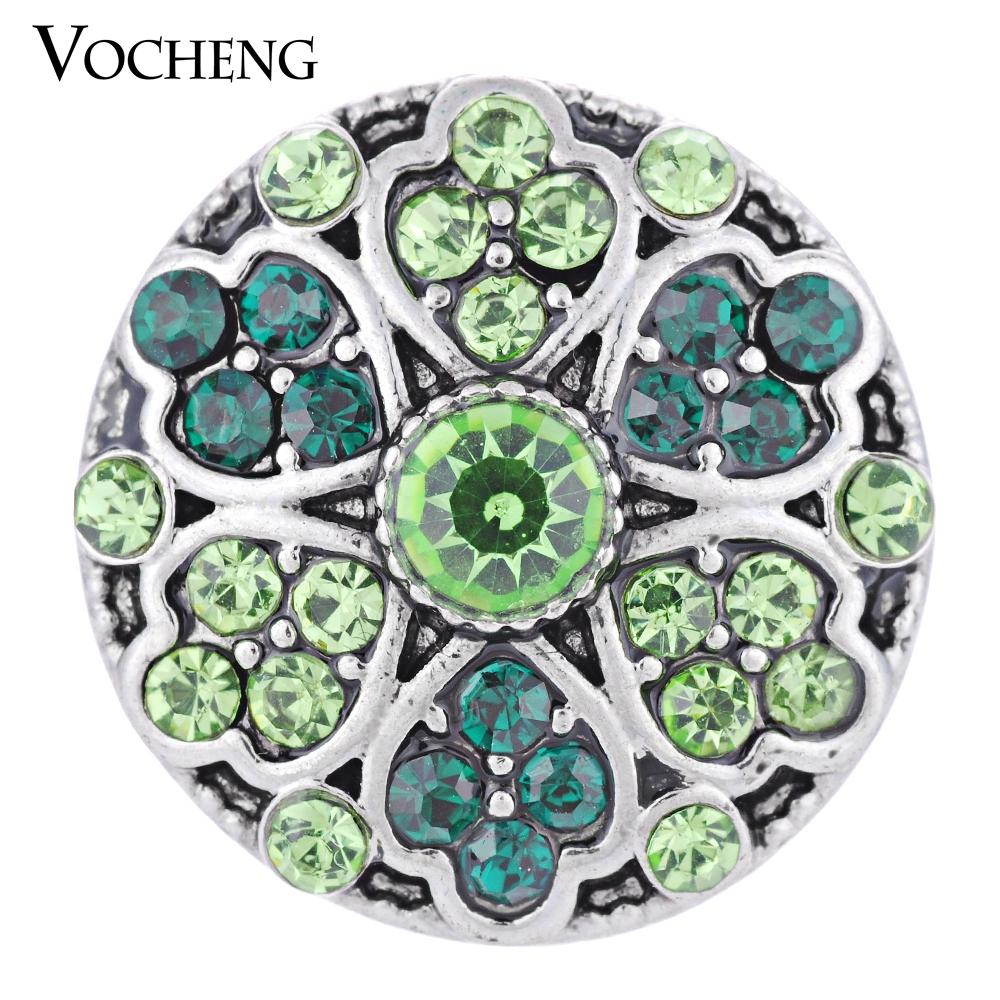 VOCHENG NOOSA Snap Jewelry 4 ألوان Blossom Lucky Charm Button Vn-1306