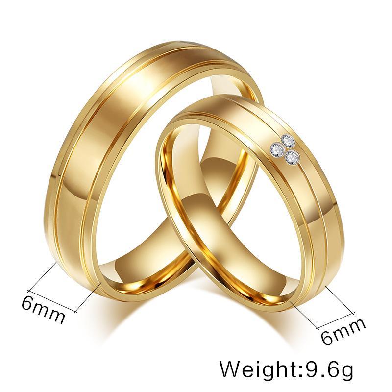 Titanium Steel Couple Ring Wedding Rings Engagement Rings ...