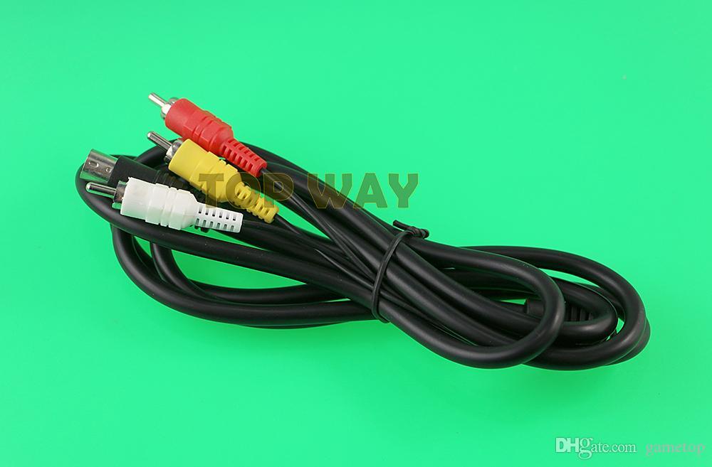 Nuova vendita calda 6FT 1800mm Retro-bit AV cavo audio video RCA per Sega Genesis 2 3 II III cavo di collegamento