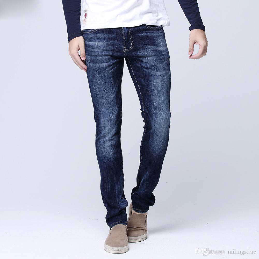 Jeans pour hommes Jeans droits Jeans Denim Jeans Pantalons simple jeans stretch stretch